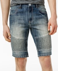 Inc International Concepts Men's Medium Wash Moto Jean Shorts Only At Macy's