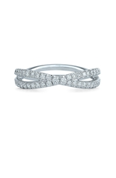 Kwiat 'Fidelity' Diamond Crossover Ring Platinum