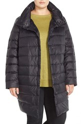 Plus Size Women's Eileen Fisher Stand Collar Down Puffer Coat