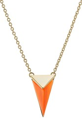 Alexis Bittar Gold Plated Necklace With Lucite