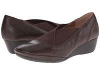 Softspots Caren Mahogany Velvet Sheep Nappa Women's Wedge Shoes Brown