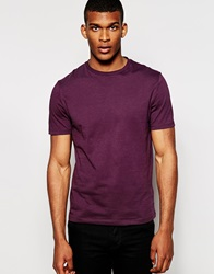 Reiss Crew Neck T Shirt Wine