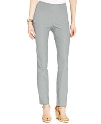 Charter Club Petite Tummy Control Slim Leg Pants Only At Macy's Mineral Ice