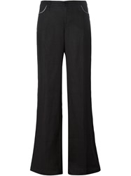 Armani Jeans Flared Trousers Black