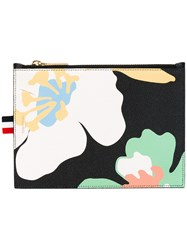 Thom Browne Large Flower Coin Purse Women Leather One Size Black