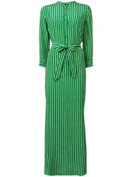 Aspesi Striped Maxi Dress Green