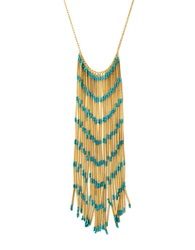 Bcbgmaxazria Boho Fringe Necklace Gold