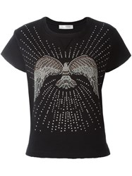 Valentino Stud Detail Jersey Top Black