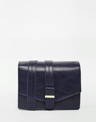 Warehouse Belt Detail Shoulder Bag Navy
