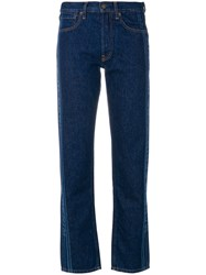 Ports 1961 Logo Printed Jeans Cotton Blue