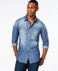 Sean John Vintage Wash Shirt Dark Royal