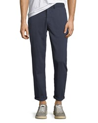 Joe's Jeans The Soder Slim Cropped Twill Pants Navy