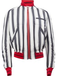 Haider Ackermann Striped Bomber Jacket Black