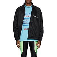 Martine Rose Twisted Tech Jersey Track Jacket Black