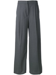 Theory Wide Leg Trousers Grey