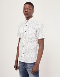 The Idle Man Polka Dot Viscose Shirt White