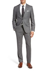 Boss Johnstons Lenon Classic Fit Solid Wool Suit Grey