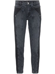 Adaptation Rider Two Tone Skinny Jeans Black