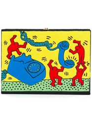 Olympia Le Tan Keith Haring Crossbody Bag Black