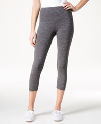 Styleandco. Style And Co. Tummy Control Cropped Leggings Only At Macy's Black Combo