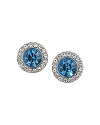 Carolee Circle Studs Blue Silver