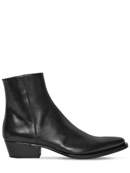 Givenchy 40Mm Dallas Leather Boots Black