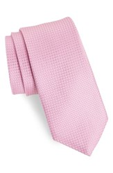 Bonobos Solid Silk Tie Textured Solid Pink Gin