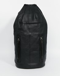 Becksondergaard Becksondergaard Leather Duffle Backpack Black
