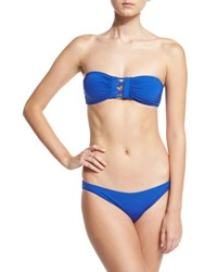 Proenza Schouler Solid Bandeau Two Piece Swimsuit Lapis