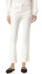 Derek Lam Cropped Flare Trousers Soft White