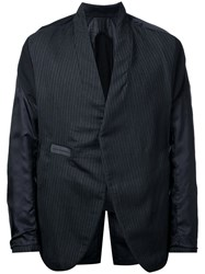 Abasi Rosborough Striped Panel Blazer Black