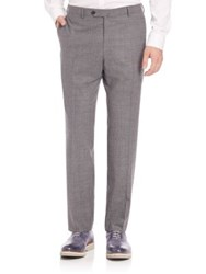 Isaia Stretch Wool Dress Pants