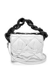 Marques Almeida Oversized Curb Chain Quilted Shoulder Bag Silver