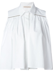 Christopher Kane Cropped Sleeveless Shirt