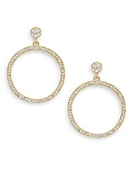 Amrita Singh Victorian Austrian Crystal Drop Hoop Earrings