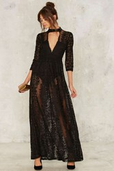 Nasty Gal Perminova Maxi Dress Black