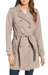 Kenneth Cole Women's New York Belted Trench Coat Taupe