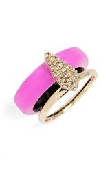 Women's Alexis Bittar 'Lucite' Stack Ring Hot Pink