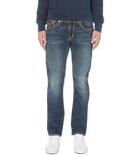True Religion Geno Relaxed Fit Tapered Jeans Broken Tracks