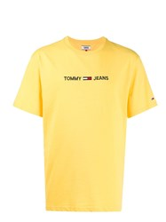 Tommy Jeans Logo Print T Shirt Yellow