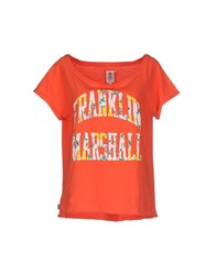 Franklin And Marshall Topwear T Shirts Women Orange