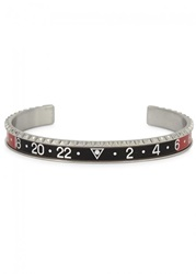 Mens Jewellery Speedometer Silver Tone Marine Steel Bracelet Black And Red