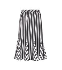 Altuzarra Crocus Striped Wool Blend Skirt Black