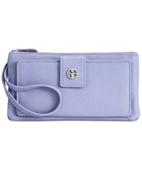 Giani Bernini Softy Medium Grab And Go Leather Wristlet Only At Macy's Lilac