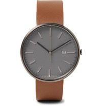 Uniform Wares M40 Pvd Coated Stainless Steel And Leather Watch Tan