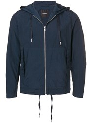 Theory Hooded Lightweight Jacket Blue