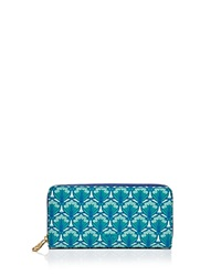 Liberty London Liberty Of London Large Zip Around Wallet Green
