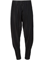 Alexandre Plokhov 'Tobi' Striped Trousers Black