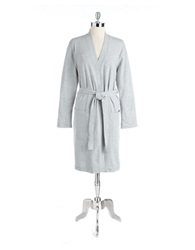 Lord And Taylor Cotton Robe Heather Grey