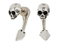 King Baby Studio Skull Tunnel Earrings W Pyramid Back Silver